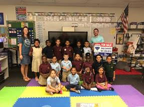 Sarasota Real Estate Agent Joey Lamielle Makes Donation To Tuttle Elementary