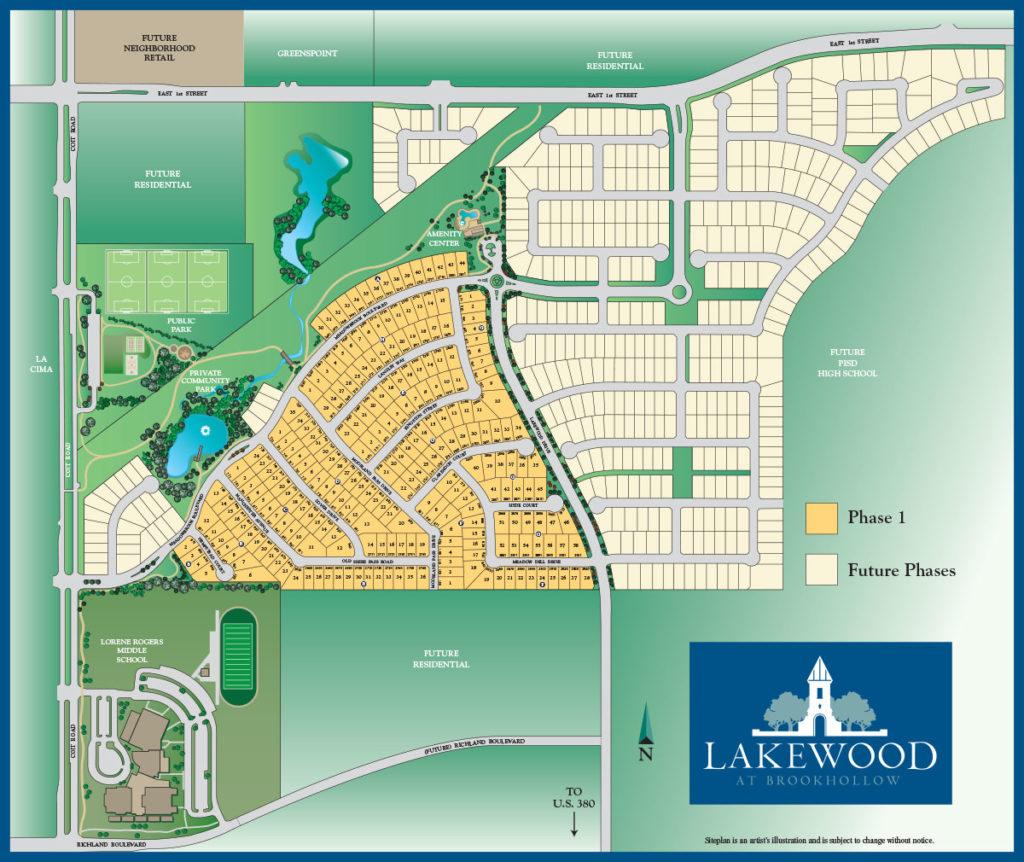 Lakewood at Brookhollow Map