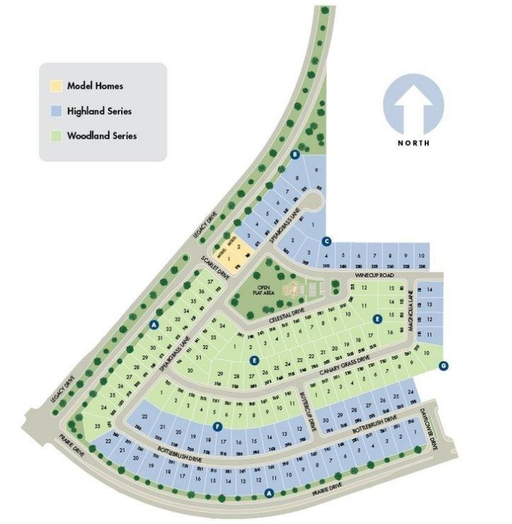 Hills At Legacy Community Outline