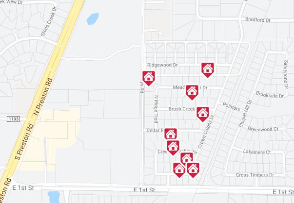 Cedar Ridge Estates Map