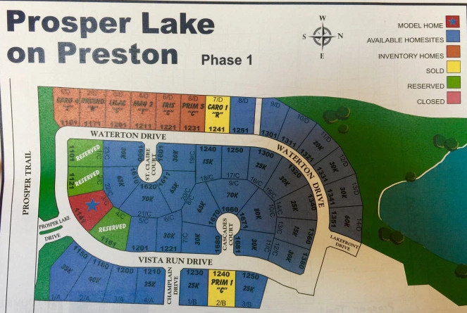 Prosper Lake on Preston